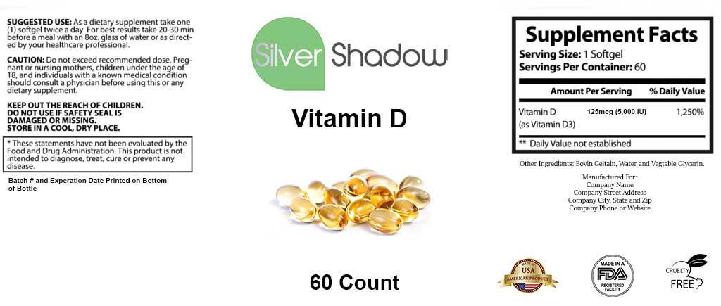 Vitamin D Supplement 60ct