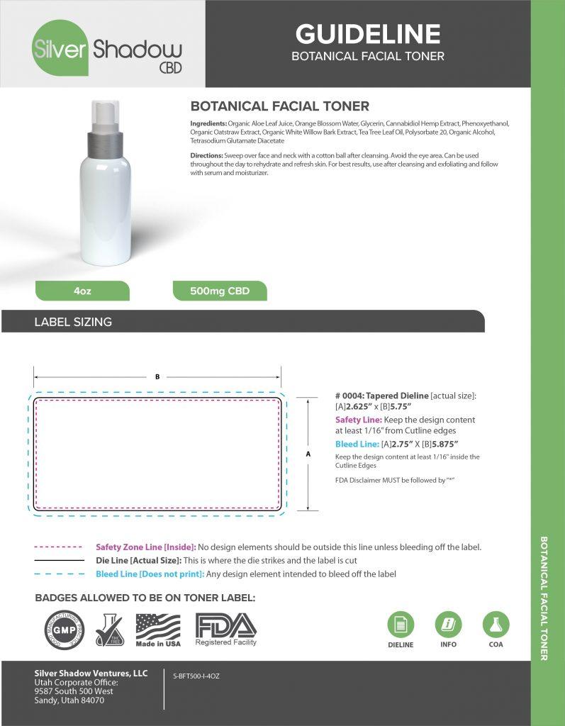 CBD Facial Toner 4oz